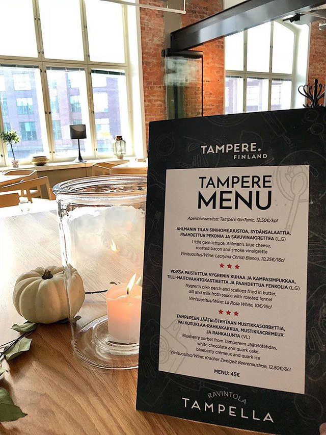 Example of commerical use: Restaurant Tampella